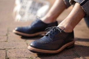 Blue Brogue Shoes