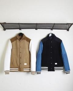 Cashmere Melton Varsity Jacket