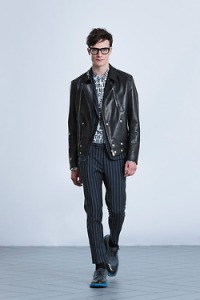 Leather is in top or bottom (Viktor & Rolf)