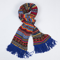 Fairisle scarves by Drake's London  Lambswool, hand knot fringes Handmade in England
