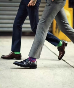 Add color with socks.