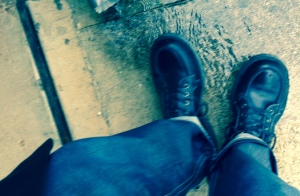 Me and my boots in the rain.